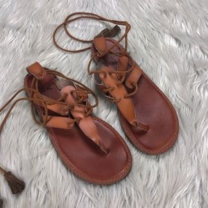 AEO Strappy Tie Ankle Gladiator Sandals